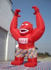 20ft Inflatable Red Gorilla Advertising Promotion with Blower N