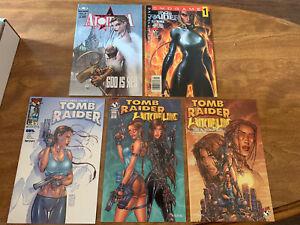 Michael Turner Comic Lot - Witchblade, Tomb Raider, Atomika