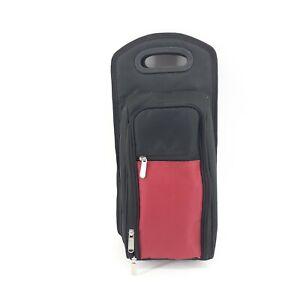 Wine Picnic Travel set of 2 Thermal Travel Soft Case Wine Glasses Corkscrew Red