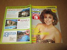 ONDA TV MAGGIO 1991 VERONICA CASTRO PATRIZIA PELLEGRINO R.CARRA' S.TAGLI