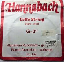 More details for hannabach cello strings steel g - 3rd aluminium. 2955