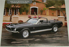 1968 Ford Shelby Mustang GT 500KR  Convertible car print (black, no top)