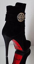 Damen Stiefeletten HIGH HEELS Wildleder  Design Italienische Mode  NEU & OVP