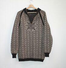 Dale of Norway Zip Cardigan Wool Men's Knit Jumper Sweater Brown Size M Medium