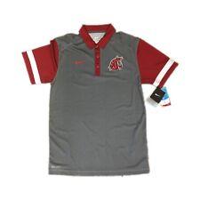 d91e56bbd NEW NWT Washington State Cougars Nike Men s Dri Fit Team Stripe Polo Shirt  Small