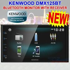 "KENWOOD DMX125BT DOUBLE DIN 6.8"" TOUCHSCREEN CAR STEREO DIGITAL MEDIEA RECEIVER"