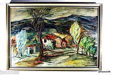 eccezionale Dipinto a olio Case in den Montagne eccezionale Lavoro di artista