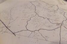 Vintage Jeff Davis County Texas Blue Print Highway Map  1961 Fort Davis Mountain