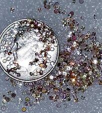 Sale 1+Carat Round Diamond Cut Tiny Natural Ceylon MultiColor 80-90 Sapphires!