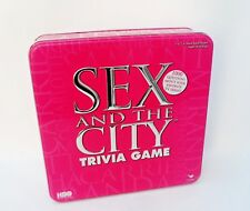 SEX AND THE CITY TRIVIA GAME TIN - COMPLETE - CARDINAL GAMES - 18YR+  VGC