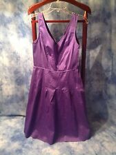 Jones New York NWT Sleeveless Purple Fit and Flare Dress Cotton Blend Size 8 NWT