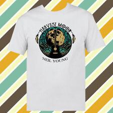 Neil Young Harvest Moon Logo Men's White T-shirt Size S - 3XL
