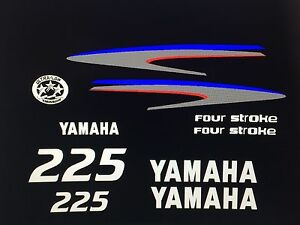 Yamaha 225 hp 4 Stroke Outboard Motor decals stickers Marine Grade free shipping