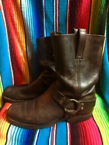 FRYE Harness Brown Leather Motorcycle Boots Men's Size 12 New Soles