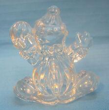 """Clown Crystal Clear Art Glass Figurine Paperweight Suncatcher  3"""" Tall"""