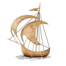 Sailing Ship Wall Art Sculpture - Handmade Metal Nautical Wall Art Decor