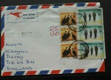 Zimbabwe to England 1996 Inflation Postage Due Air Cover with Bird Stamps