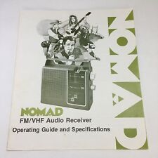 NOMAD FM VHF Audio Receiver Operating Guide And Specifications