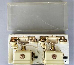 2x Kindertelefon Geobra Nr. 1900 Retro-Look 1960er  OVP Spielzeug G.Brandstätter