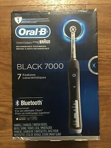 Oral-B Pro 7000 SmartSeries Black Electronic Power Rechargeable Toothbrush #4666