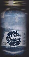 COLLECTIBLE EMPTY OLE SMOKY MOUNTAIN MOONSHINE SNOW CREAM MASON JAR XXX SHINE