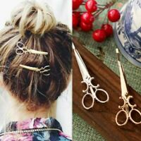 1 Pc Women charm sweet gold / silver scissors-shaped hairpin bridal hair accesso