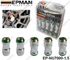 EPMAN GREEN LOCKING FORMULA WHEEL NUTS M12 X 1.5 fit HONDA TOYOTA MITSUBISHI MAZ