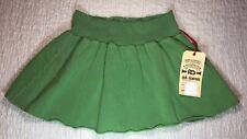 DA-NANG SZ S Skirt Green Mini Soft 100% Cotton A Line Stretch Waist NWT