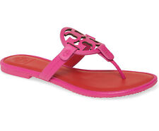 NIB New Tory Burch Miller Leather Thong Sandal Imperial Pink US 8 AUTHENTIC
