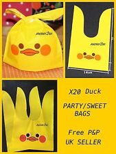 20 pcs Easter Yellow Duck Sweets Gifts Presentation Party Bags Cello Easter