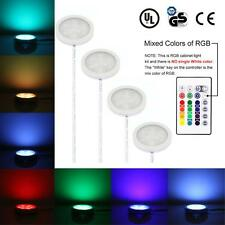 Under Cabinet RGB Light Kit 9LEDs Puck Lamp IR Remote Multi-color Dimmable V5E0