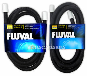 FLUVAL RIBBED HOSE HOSING FISH TANK PIPE EXTERNA FILTER WITH RUBBER CONNECTOR
