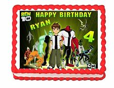 Ben 10 edible edible cake topper frosting sheet decoration - personalized free
