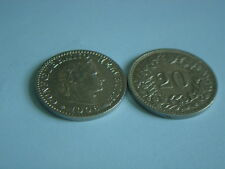Münzen Schweiz 1906 B Swiss  1 x 20 Rappen 1906  B  Coin Svizzera siehe Bild
