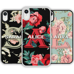FLORAL PERSONALISED MONOGRAM NAME Initial Flower Phone Case Cover iPhone Samsung