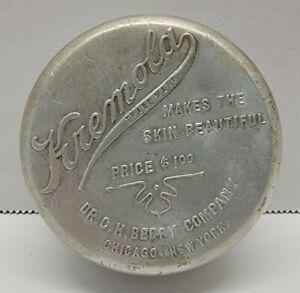 VTG Kremola Skin Cream Round Tin Compact Dr. C H Berry Co Chicago New York