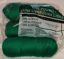 Caron Simply Soft Mill End Yarn ~ Emerald Green ~ Acrylic worsted yarn 1 lb