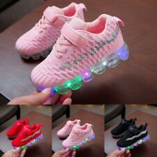 Child Kids Baby Girls Boys Bling Led Luminous Sport Run Sneakers Casual Shoes Ce