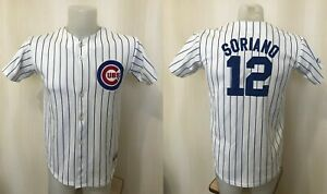 Chicago clubs  #12 Soriano Boys L Baseball Majestic shirt jersey maillot jacket