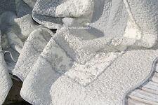 Tagesdecke JANE  Grau&Creme Plaid Toile Shabby 180x260 Landhausstil Sofaüberwurf