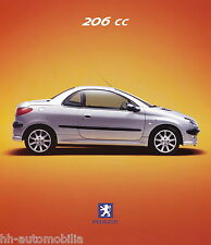 Peugeot 206 CC Prospekt D 9/00 brochure 2000 Auto PKWs Frankreich Autoprospekt