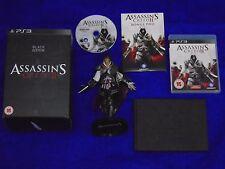 ps3 ASSASSINS CREED II 2 Black Edition + EZIO Figurine PAL UK REGION FREE