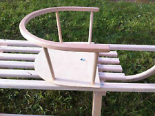Snow Sled Sleigh Sledge Back Rest Wooden Sled Safety Seat JUST SEAT