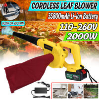 2000W BIG POWER 2In1 Cordless Leaf Blower Shredder And Vacuum cleaner