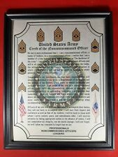 Mc-Nice: Army Creed of the Nco All Units Framed Personalized