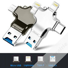 Card Reader 4 in 1 Micro USB 3.0 Type C Lightning Connector HUB Adapter  1 Piece