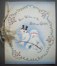 Bride Groom birds wedding greeting card 1x