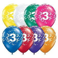Party Supplies 3rd Birthday 3 Around Jewel Stars Latex Balloons Pack of 10