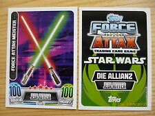 Star Wars Force Attax Movie Serie 2, LE7 Lichtschwerter, limitierte Auflage!