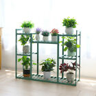 Bamboo Flower Plant 8 Pot Shelf Stand Display Ladder Rack Storage Bluish Green